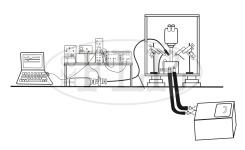 Electroretinograph recording rig diagram